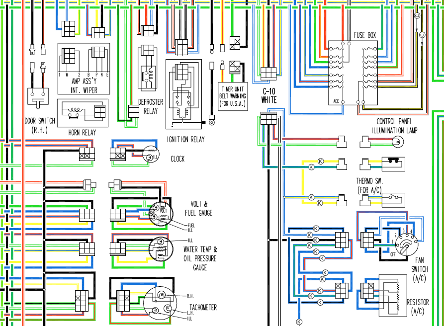 1977 280z Wiring Diagram In Color Wiring Diagrams The Classic Zcar Club