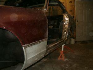 Left fender repair.