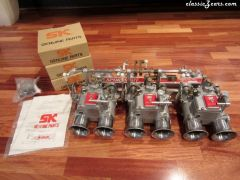 SK Triple 45mm Sidedraft Carbs and Manifold