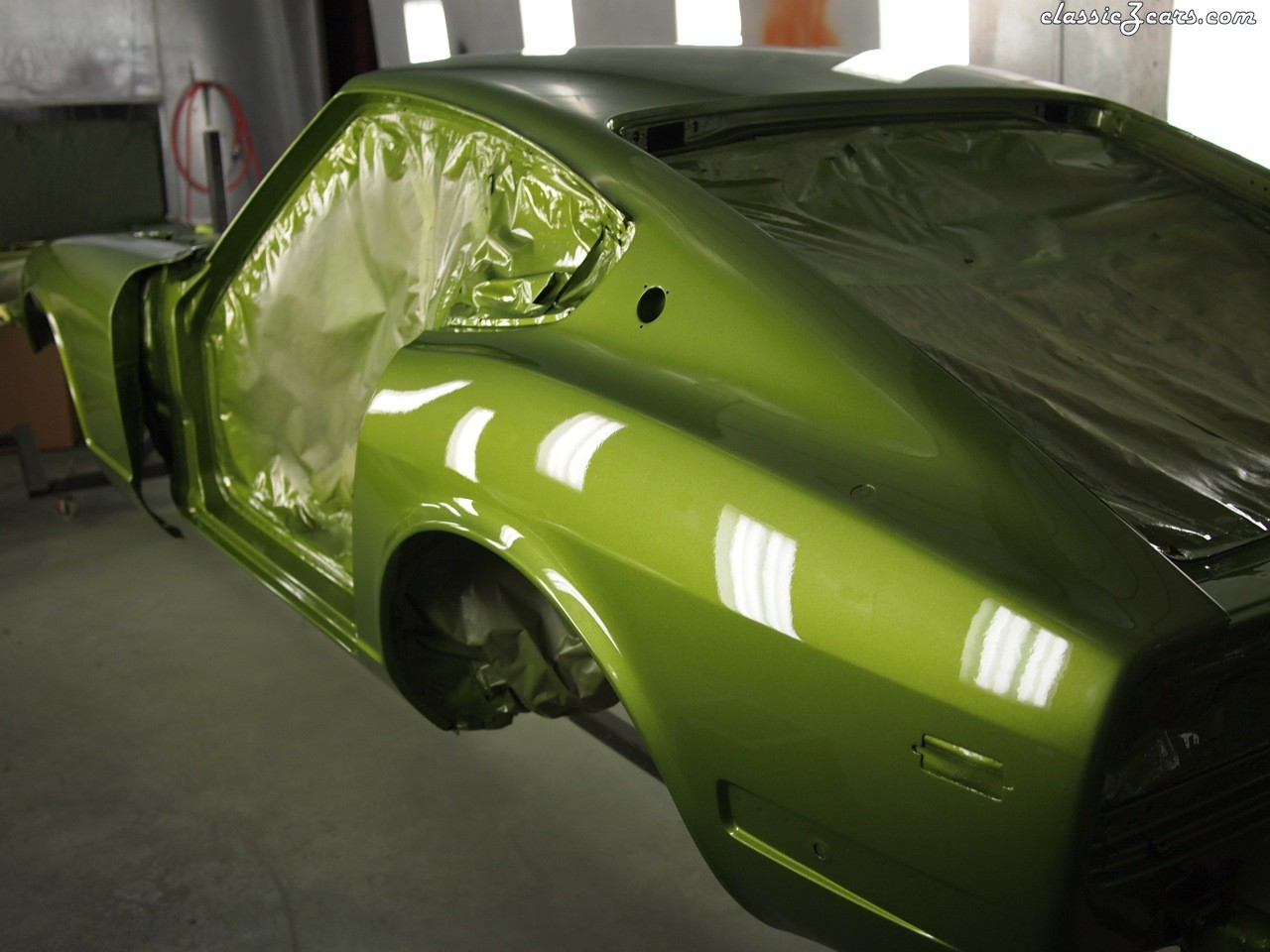glamourclear on 113 avocado green body work and paint the classic zcar club