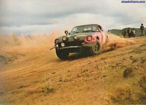 Rally 240Z on gravel