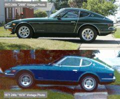 1971 240z in 1978 and 1973 240z in 2008