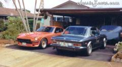Old Photo - My 240z and Dad's BMW 3.0 CS