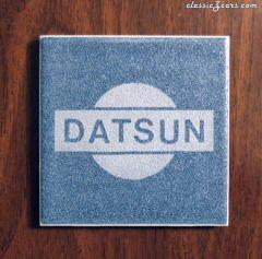 Datsun Logo on Tile - Etched Design