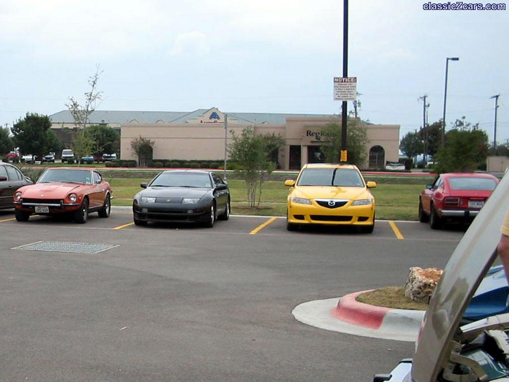 Allan's 240Z (far right)