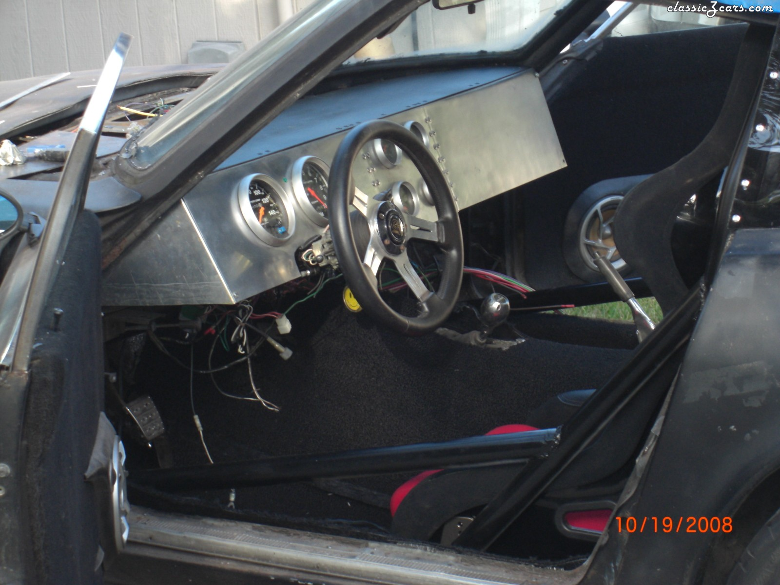 dash and seats installed