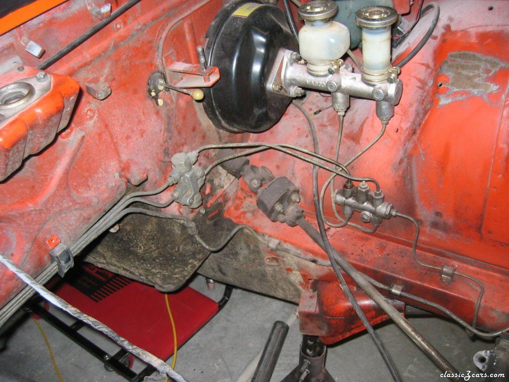 Brake booster area