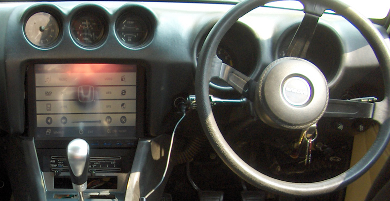 """Dash with 10.4"""" touchscreen"""