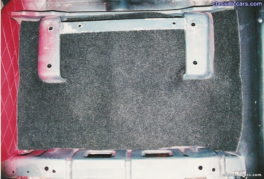 Close-up of dvr seat floor mount