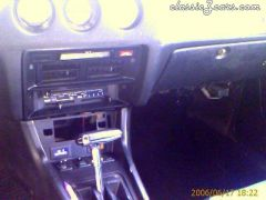 heater controles and shifter.