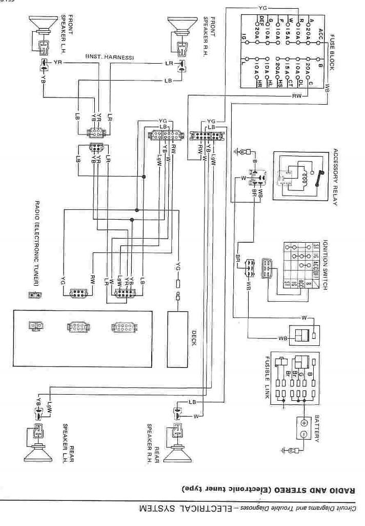 1983 Datsun Z Audio Wiring Diagram - Help Me