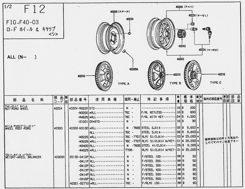 nissan 240z car parts catalog