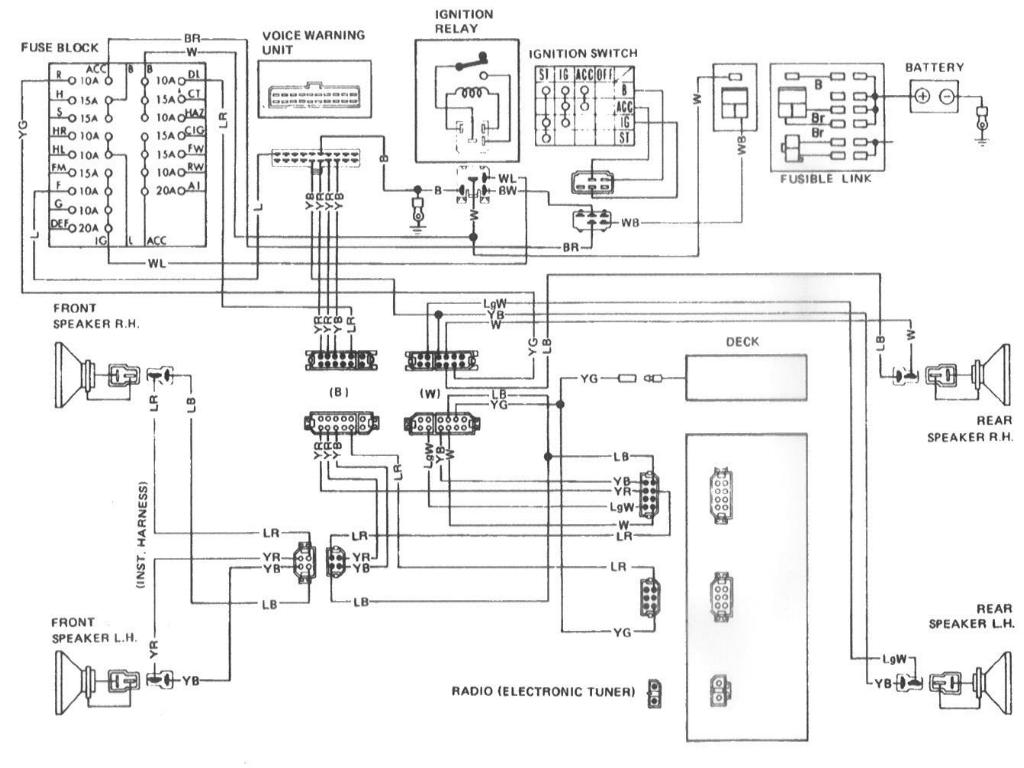 1982 280zx audio diagram - help me