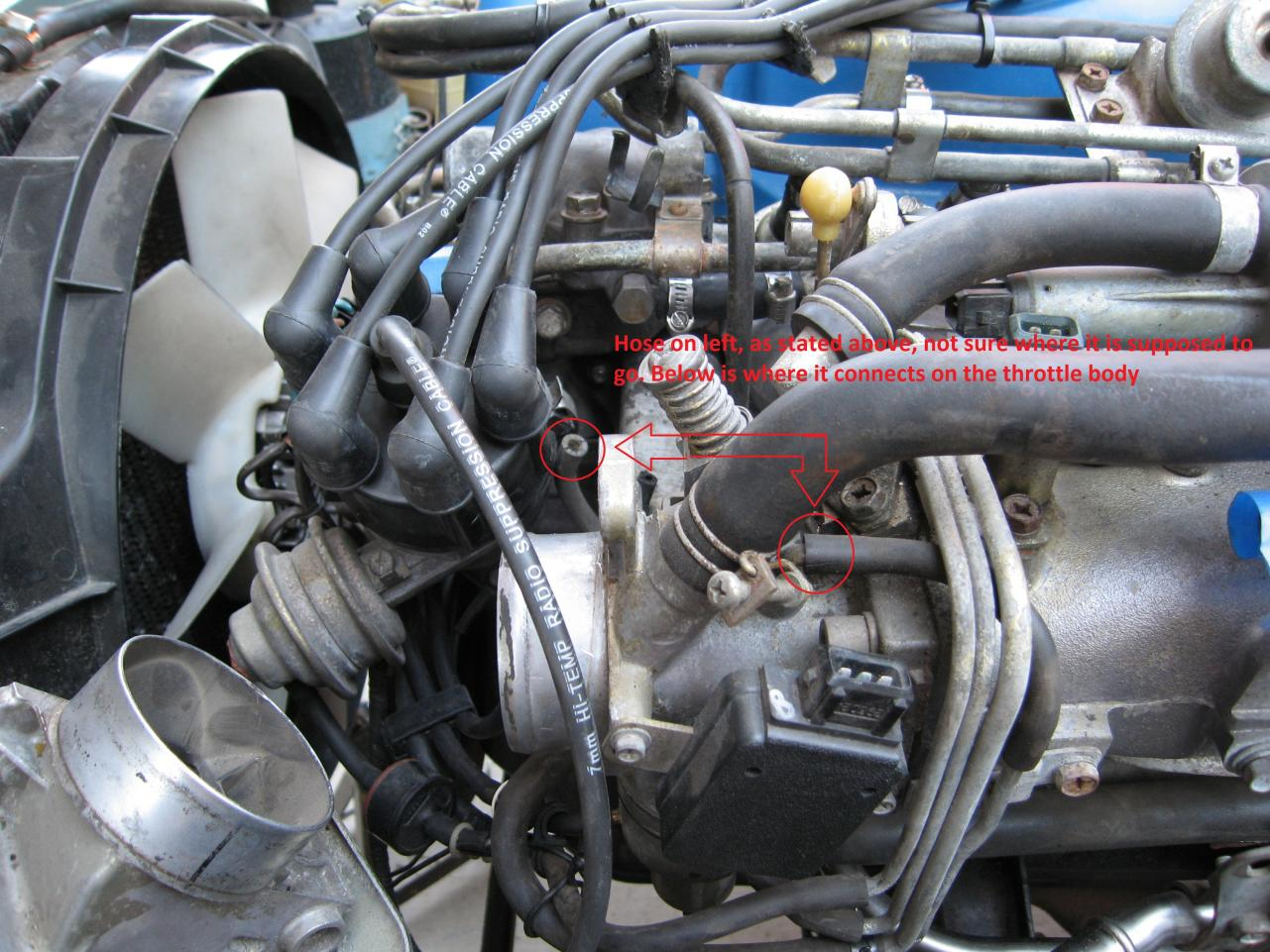 1981 280zx Vacuum Lines - Engine And Drivetrain