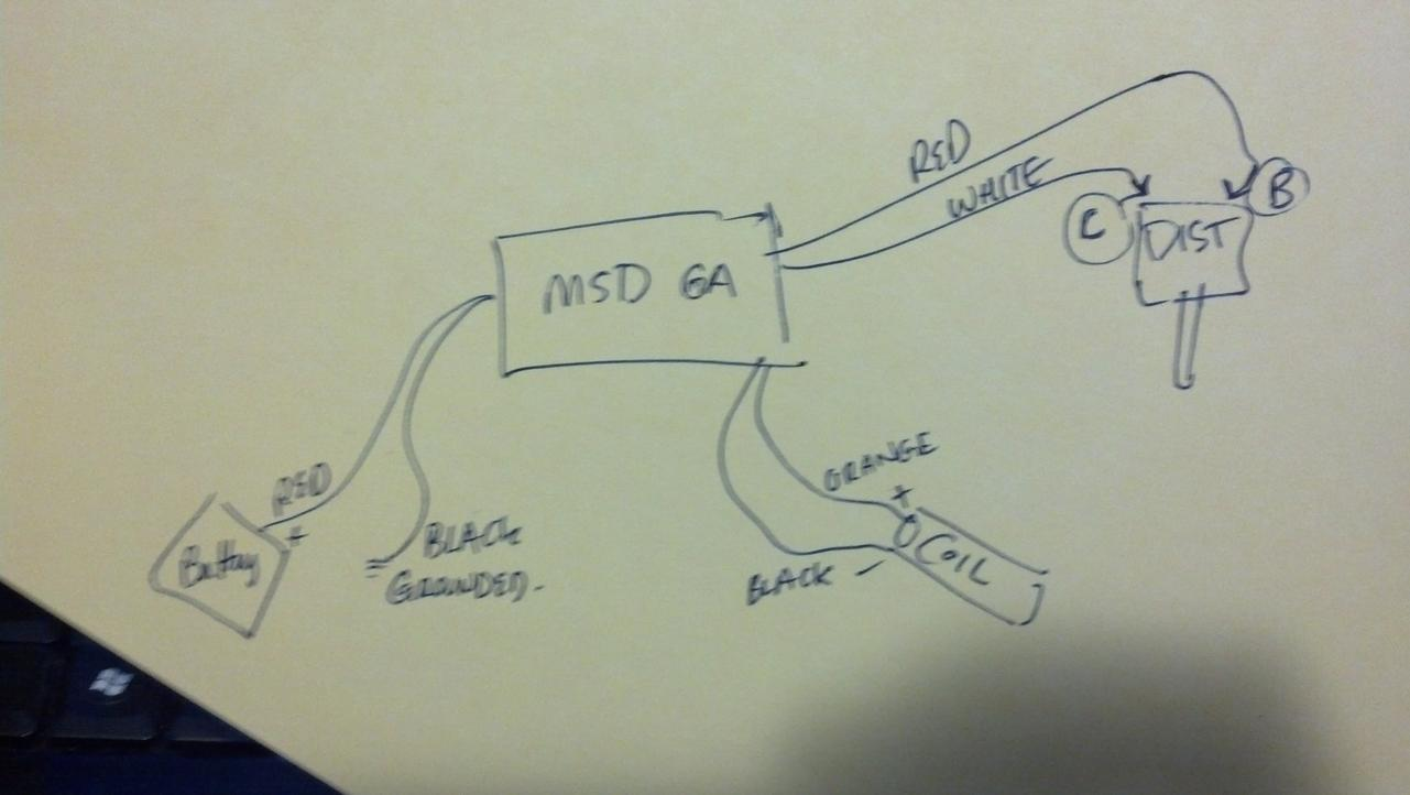 U0026 39 71 240z  Msd 6a Install  Tach Issues - Electrical