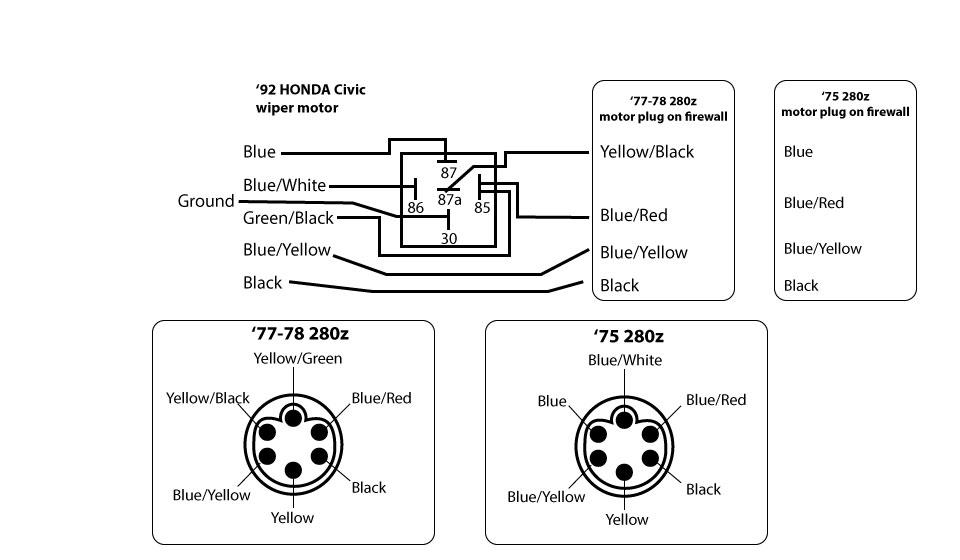 280z wiper motor wiring diagram honda    wiper       motor    upgrade for the 240z page 5 promoted  honda    wiper       motor    upgrade for the 240z page 5 promoted