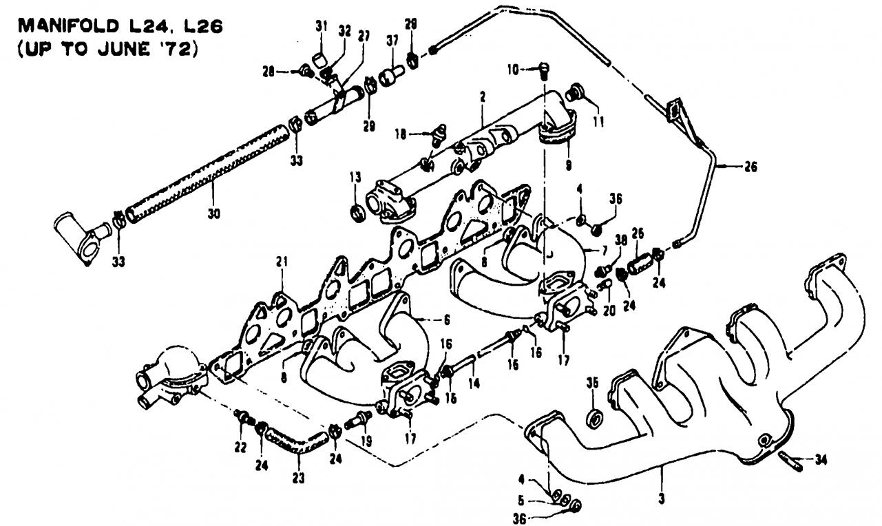 early 240z su carb parts list and exploded diagram