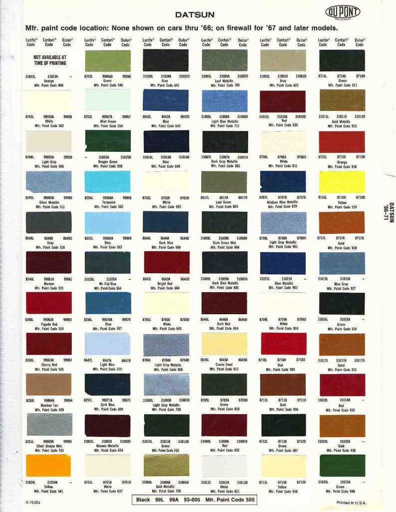 how to choose a paint color code