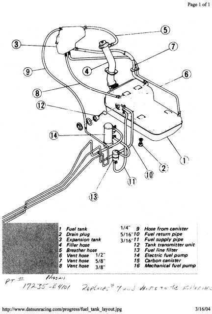 240z Hose Diagram