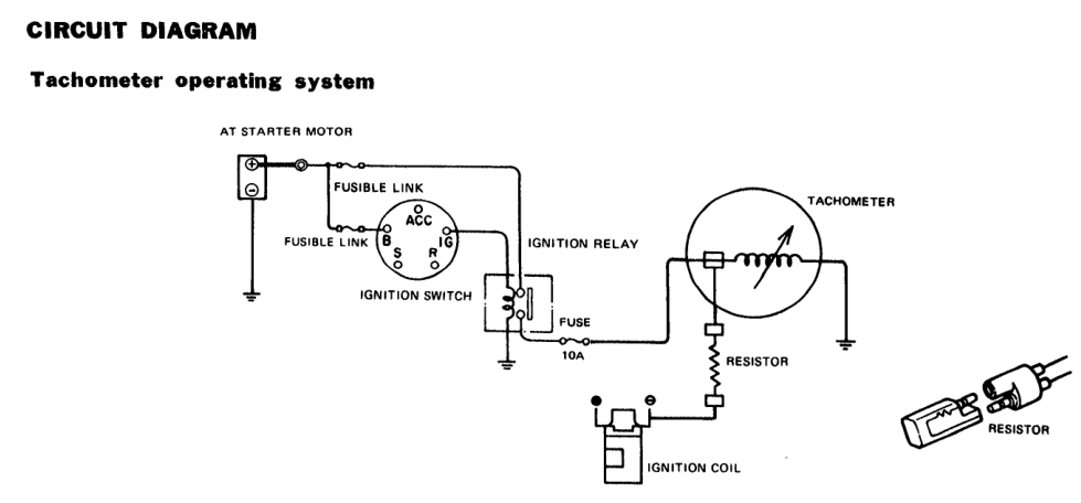 280z tach wiring auto electrical wiring diagram u2022 rh 6weeks co uk datsun 280z tach wiring