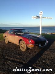 At John O'Groats after completing the Land's End to John O'Groats rally in December