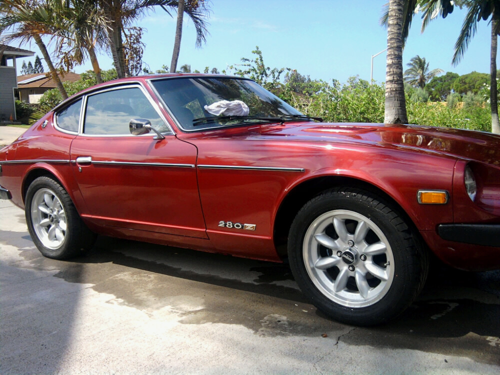 door mirrors body and paint the classic zcar club Datsun 280ZX Engine lowered jpg