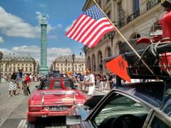 Driving into Paris at the Finish Line