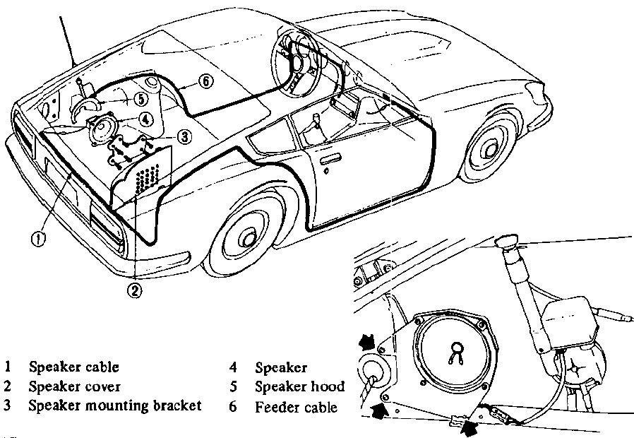 Wiring Routing Of Front And Rear Speaker Panel On A 72 240z