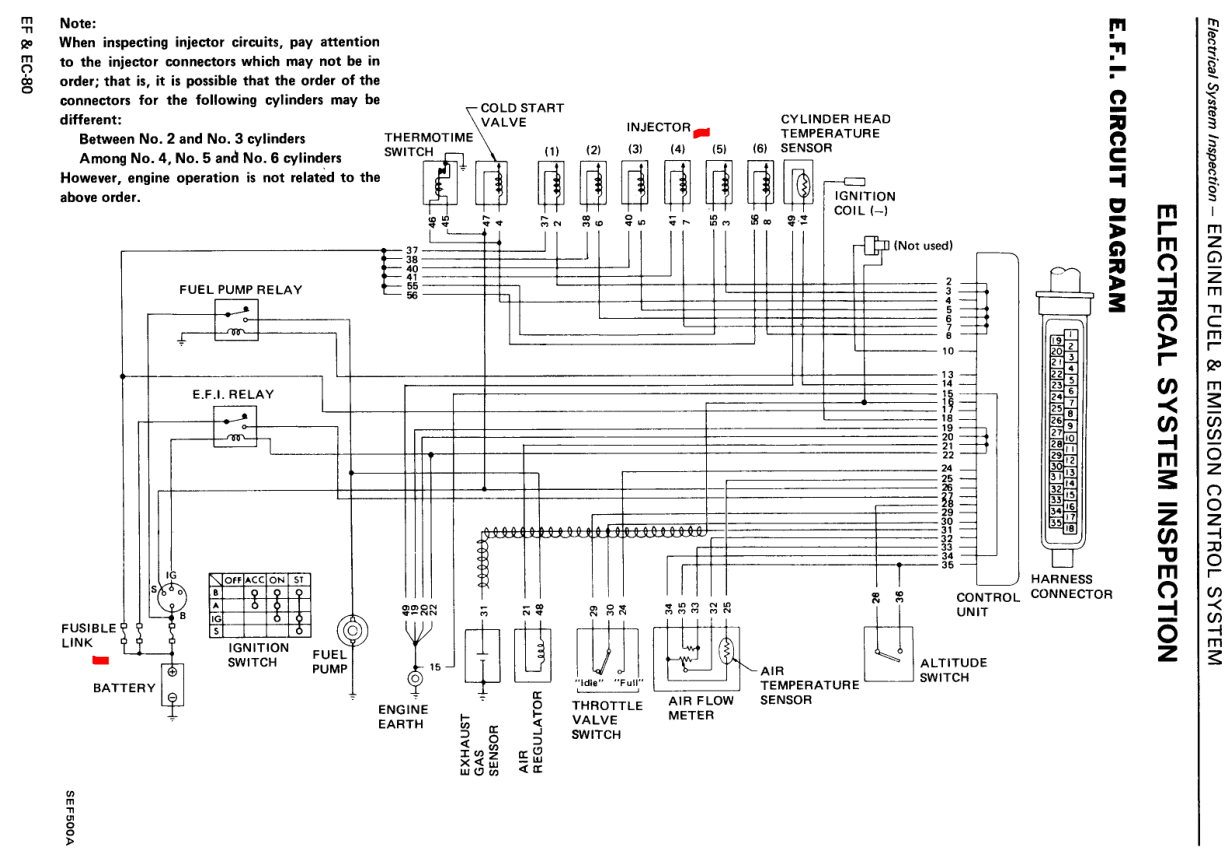 wiring diagram for 1983 nissan 280zx  nissan  auto wiring diagram