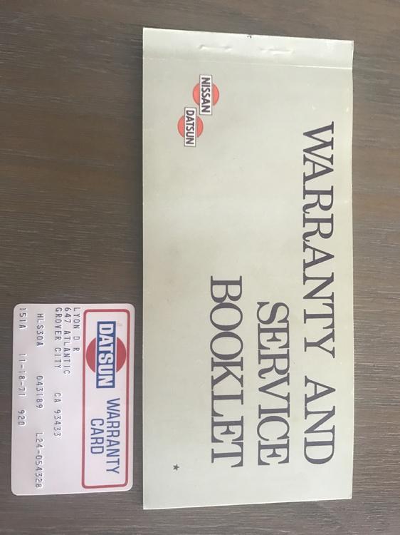 datsun240z_warranty card.JPG