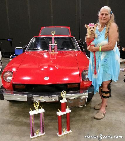 "8/5 Dalton, Ga.  ""Time to Shine"" car show winning a second prize"