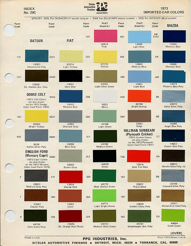 Freightliner Paint Color Chart Paint Color Ideas