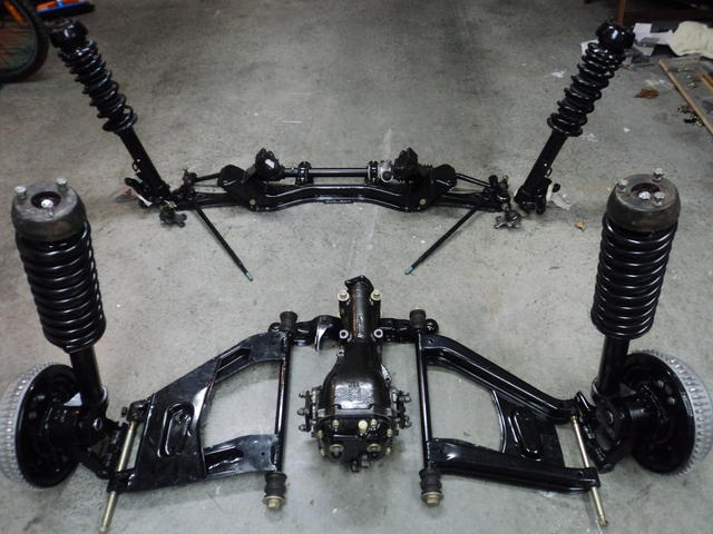Suspension ready to go in