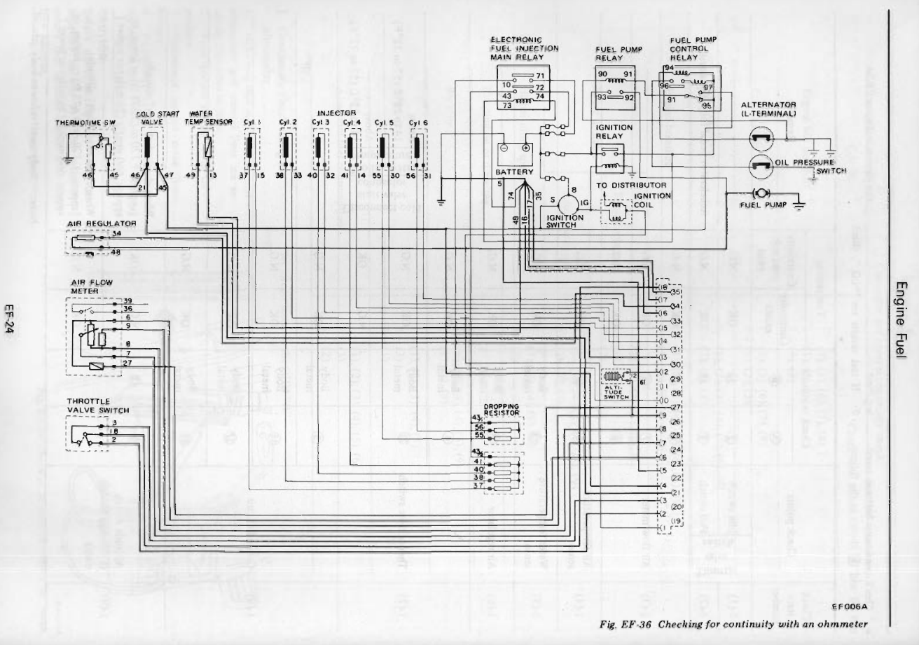 The 280zs Fuel Injection Wiring Schematic Is Very Simple This