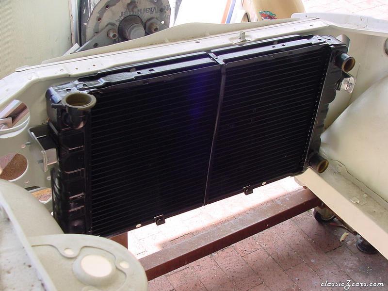 Cross flow radiator.