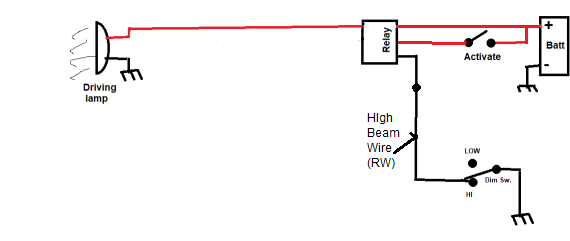 wiring a driving lamp relay - electrical