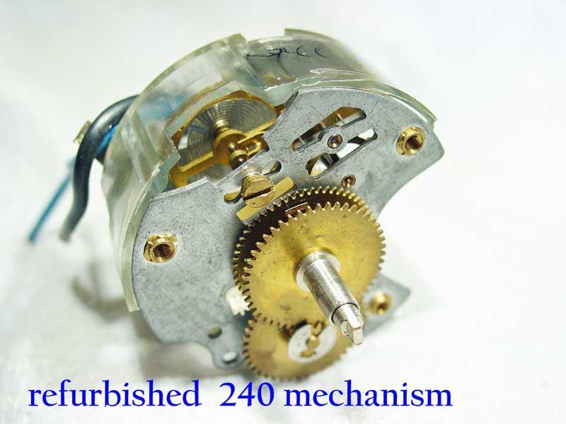 Refurbished 240z clock mechanism