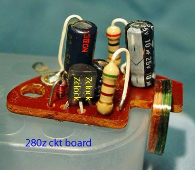 280z clock circuit board