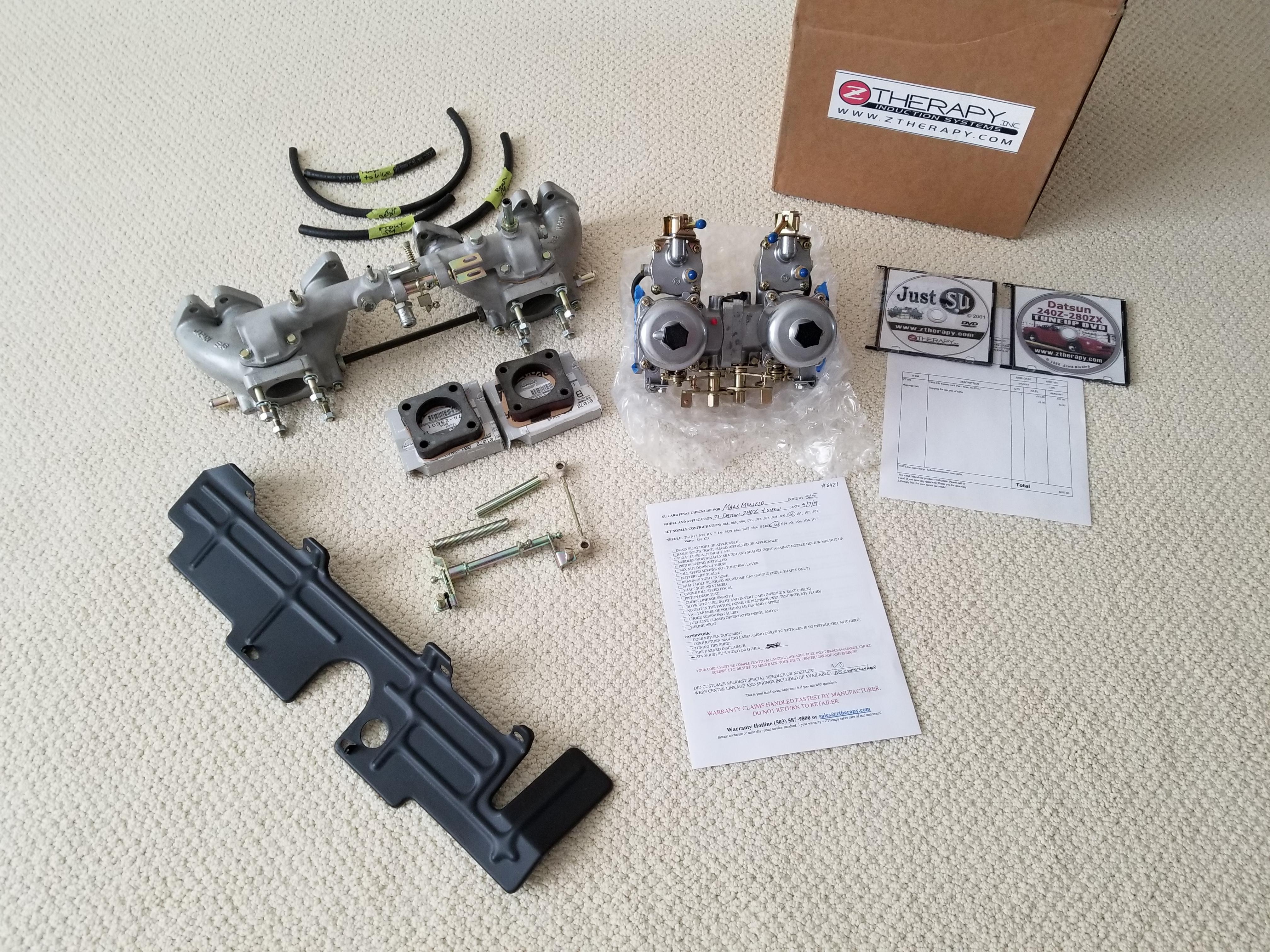 ZTherapy 4Screw SU's , E46 Manifold & Balance Tube , Linkages , Insulators - Complete Assembly