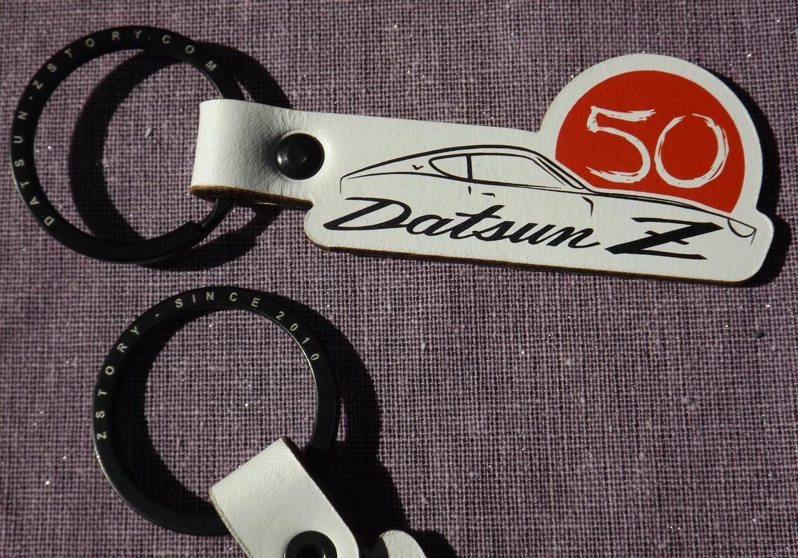 Datsun Z 50 years key ring fob