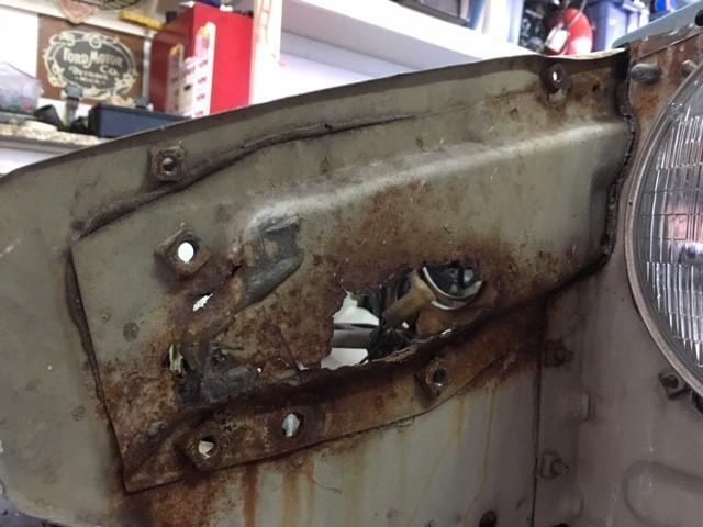 Passenger Side Hood Hinge Metal