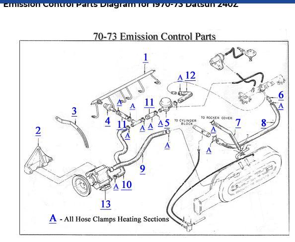 Emissions air hoses wanted for 240Z