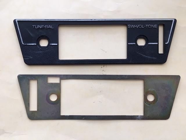 1977-78 280Z OEM AM/FM radio faceplate w/shielding plate