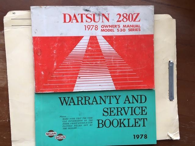 1978 Datsun Nissan 280Z owner's manual/service booklet/dealer case