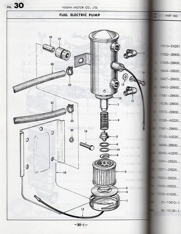 WTB: 240Z Electric Fuel Pump Bracket