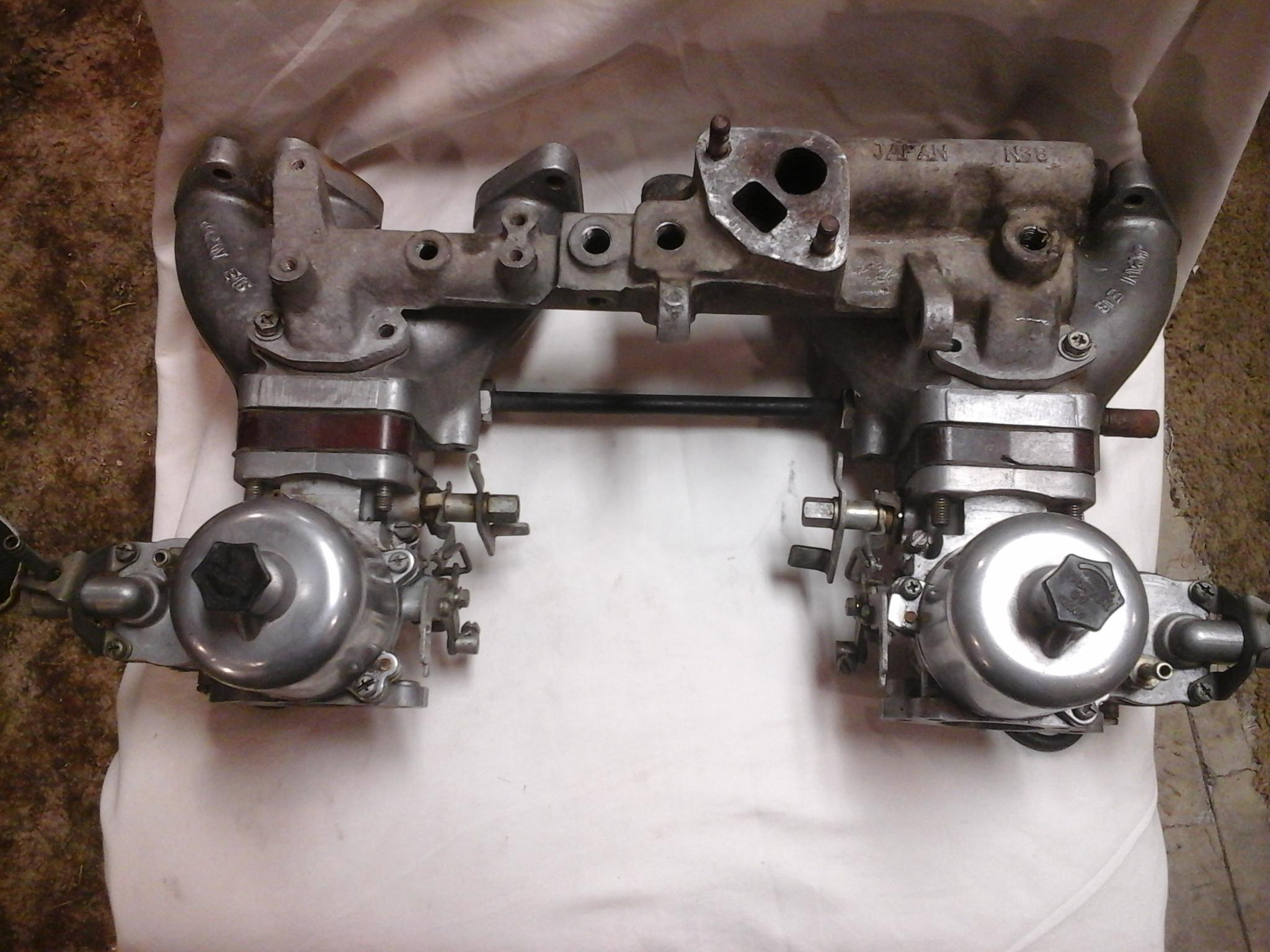 Polished 3 screw cab and E46 manifold